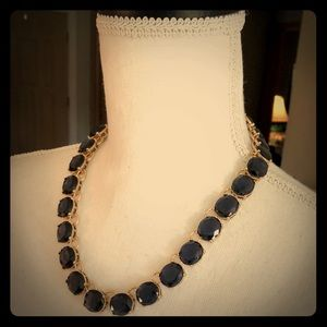 Gold Necklace with Blue Stones by Banana Republic